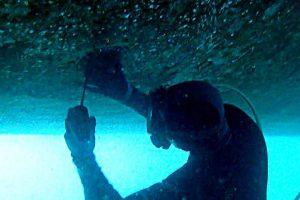 Underwater-overhead-welding