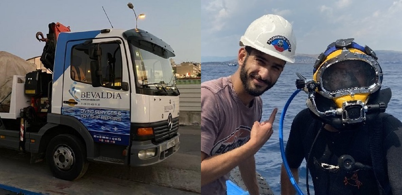 Underwater hull cleaning Piraeus
